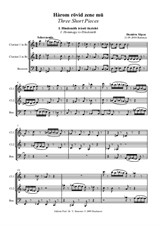 Three Short Pieces – Score
