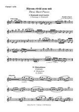 Three Short Pieces – Clarinet I in Bb
